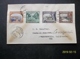 Cyprus: 1938 Cover To USA (#EN5) - Cyprus (...-1960)