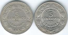 Honduras - 5 Centavos - 1931 (KM72.1) & 1980 (KM72.2) - Honduras