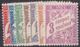 ⭐ Inde - Taxe - YT N° 12 à 18 ** - Neuf Sans Charnière - 1929 ⭐ - Ungebraucht