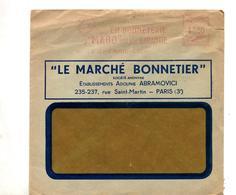 Lettre Flamme Ema Paris Bonneterie Mabo - Marcophilie (Lettres)