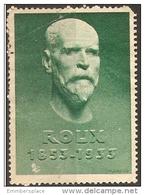 France Label - 1933 Foundation Roux (1fr Receipt On Reverse) Unused - Commemorative Labels