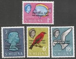 St Helena. 1965 First Local Post. MNH Complete Set. SG 193-196 - Saint Helena Island