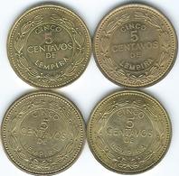 Honduras - 5 Centavos - 1975 (KM72.2a) 1994 (KM72.3) 2006 (KM72.4) 2010 (magnetic) - Honduras