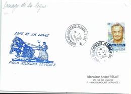 Cachet Manuel Du Porte-hélicoptères Jeanne D'Arc - Passage De La Ligne - YT 3342 Eric Tabarly - Marcophilie (Lettres)