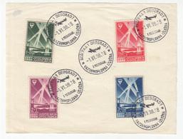 Vazduhoplovna Izložba (airshow Belgrade 1938) Stamps Set Postmarked 1938 B190220 - Cartas