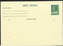 FRANCE - CARTE POSTALE MARIANNE DE BEQUET CENT. 80 (YVERT 1891-CP1) - 1975 - NUOVA - Biglietto Postale