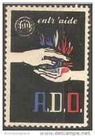 France Vignette - A.D.O. Entr'aide - Commemorative Labels