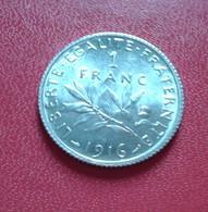 FRANCE :1 FRANC SEMEUSE  ARGENT 1916 SPL  (B8-13) - France