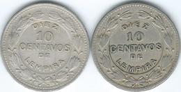 Honduras - 10 Centavos 1931 (KM76.1) & 1980 (KM76.2) - Honduras