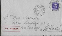 STORIA POSTALE REGNO - ANNULLO DC - VARAZZE/SAVONA 12.05.1937 SU BUSTA PER MILANO - 1900-44 Vittorio Emanuele III