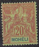 ⭐ Mohéli - YT N° 6 ** - Neuf Sans Charnière - 1906 / 1907 ⭐ - Unused Stamps