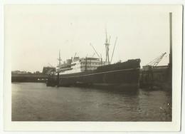 Photo Originale Paquebot EUROPA à Copenhague DANEMARK Septembre 1936 - Barche