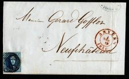 N° 4 Sur LSC Expédiée D'Anvers à Destination De Neufchâteau - 1849-1850 Médaillons (3/5)