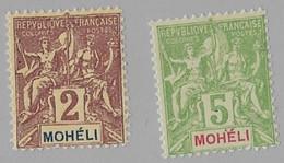 ⭐ Mohéli - YT N° 2 Et 4 ** - Neuf Sans Charnière - 1906 / 1907 ⭐ - Unused Stamps