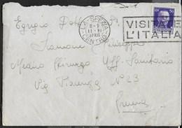 STORIA POSTALE REGNO - ANNULLO DC - CORTE DE' FRATI/(CREMONA) 10.01.1942 SU BUSTA PER CREMA - 1900-44 Vittorio Emanuele III