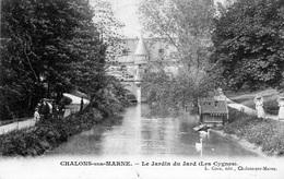 51 Chalons Sur Marne Le Jardin Du Jard - Les Cygnes - Jolie Paire Timbres Blanc 111 Cachet LAGNY - Châlons-sur-Marne
