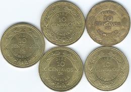 Honduras - 10 Centavos 1976 (KM76.1a) 1993 (KM76.2a) 2002 (KM76.3) 2007 (KM76.4) 2010 (magnetic) - Honduras