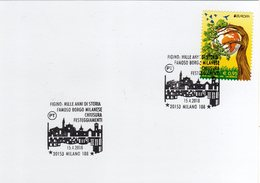 Italia 2018 Milano Figino Famoso Borgo Milanese Annullo Su Cartolina - Geografia