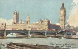 """""""F.W. Burton. London.The Houses O Parliamnt From The Thames"""" TuckOiette PC # 3640 - Tuck, Raphael"""