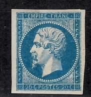 France YT N° 14A Neuf *. Belle Gomme D'origine Signé Brun. B/TB. A Saisir! - 1853-1860 Napoléon III