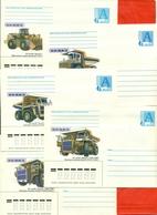 Belarus 1998.Dump Trucks. Plant In Minsk. Lot Of 5 Envelopes With A Printed Stamp. - Trucks