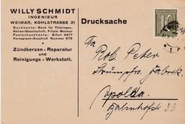 Karte Aus Weimar 1921 - Allemagne