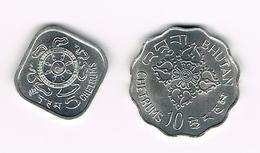 -&   BHUTAN  5 En 10 CHETRUMS  1975 - Bhoutan