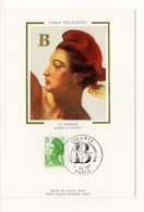 Carte Maximum 1987  - La Liberté De Delacroix YT 2483  - Paris - Cartes-Maximum
