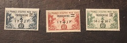 3 TIMBRES FRANCE COLONIE  INDOCHINE 1945 YVERT N° 296 à 298  NEUF - Indocina (1889-1945)