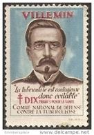 France Label - 1931 Villemin Anti Tuberculosis Mint Not Hinged - Antituberculeux