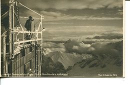 006164  Meteorl. Station Auf Der Zugspitze. Blick A. Hohe Munde U. Kalkkögel - Zugspitze