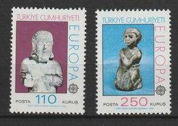 MiNr. 2320 - 2321  Türkei 1974, 29. April. Europa: Skulpturen. - 1921-... Republik