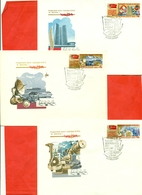 USSR 1981.Dump Trucks, Locomotive, Space, Oil. Lot Of 5 Envelopes FDC. - Factories & Industries