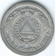 Honduras - 25 Centavos - 1907 (overdate 1904) - KM50a - Only 14,000 Minted - Honduras