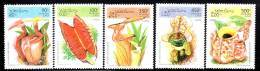 LAOS - N° 1191/5 **  (1995)  Plantes Insectivores - Laos