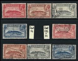 GIBILTERRA - Re GIORGIO V - 1931 / 33 - N. 91/94 + 91A/94A Usati, 2 Serie Compl. - Cat. 86.00 € - Lotto N. 54 - Gibilterra
