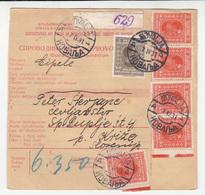 SHS, Parcel Card Sprovodni List Novalja To Križe Na Gorenjskem 1931 B190220 - 1919-1929 Kingdom Of Serbs, Croats And Slovenes