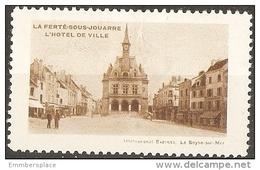 France Vignette -  La Ferte-sous-Jouarre Tourism Label (hotel De Ville) - Commemorative Labels