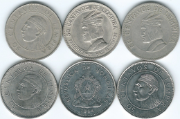 Honduras - 50 Centavos - 1967 (KM80) 1973 (KM82) 1978 (KM84) 1991 (KM84a.1) 1994 (KM88) 2007 (KM84a.2) - Honduras