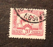 TIMBRE FRANCE COLONIE  INDOCHINE 1931 YVERT N° 163  OBLITERE - Indocina (1889-1945)