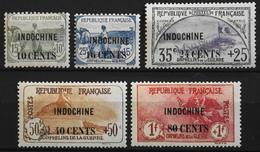 France (ex-colonies & Protectorats) > Indochine 1919 N° 90 Au 94 Y & T Neuf* - Neufs
