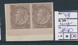 BELGIUM  COB 49 IMPERFORATED ALWAYS MINT NO GUM - 1884-1891 Leopold II