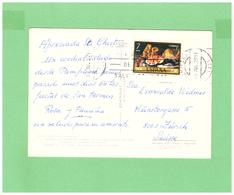 1977 ESPANA PAMPLONA POSTCARD WITH 1 STAMP TO SWISS - 1931-Oggi: 2. Rep. - ... Juan Carlos I
