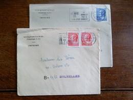 2stuks Briefomslag   CINQFONTAINES  LUXEMOURG - Troisvièrges