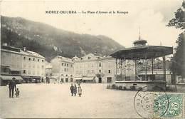 Dpts Div.-ref-AG179- Jura - Morez - Place D Armes Et Kiosque - Kiosques à Musique - Petit Plan Magasins - - Morez