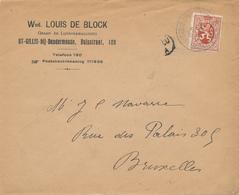 272/28A - Enveloppe TP 287 Lion Héraldique ST GILLIS DENDERMONDE 1931- Entete Wed. De Block , Graan- En Lijnkoekmaalderi - 1929-1937 Lion Héraldique