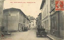 Dpts Div.-ref-AG178- Jura - Saint Amour - St Amour - Faubourg De L Ain - Magasin - Magasins - Voiture - Voir Etat - - France