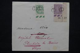 FRANCE - Cachet De Facteur Sur Type Blanc /Semeuse Sur Enveloppe Pour Plombières Les Bains En 1932 - L 23200 - 1921-1960: Période Moderne