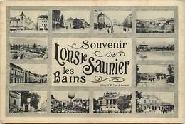 Dpts Div.-ref-AG177- Jura - Lons Le Saunier Les Bains - Souvenir De .. - Multi Vues - Carte Bon Etat - - Lons Le Saunier