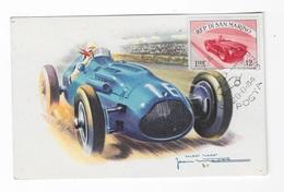 "CPA ""San Marino"" Talbot Lago - Rallyes"